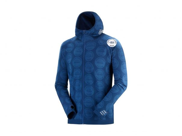 3D Thermo Seamless Hoodie Zip - Mont Blanc 2020