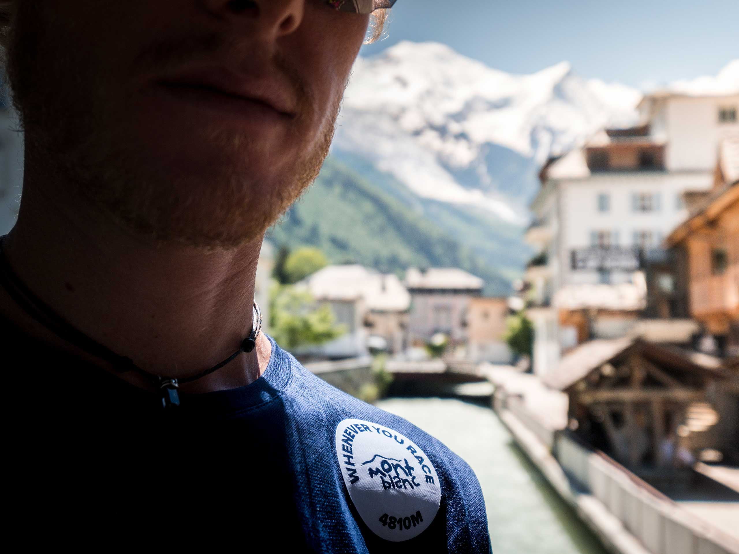 Training Tshirt LS Badges - Mont Blanc 2020