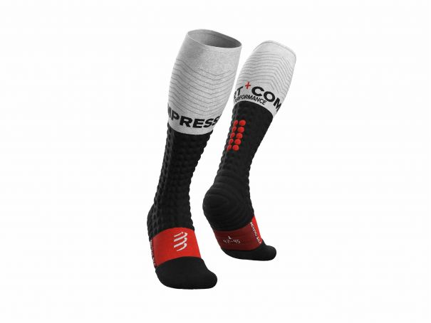 Alpine Ski Merino Full Socks BLACK/WHITE
