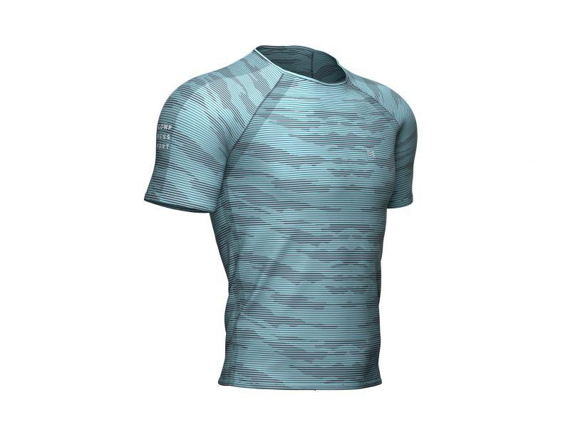 Training SS Tshirt Camo Stripe - Nile Blue