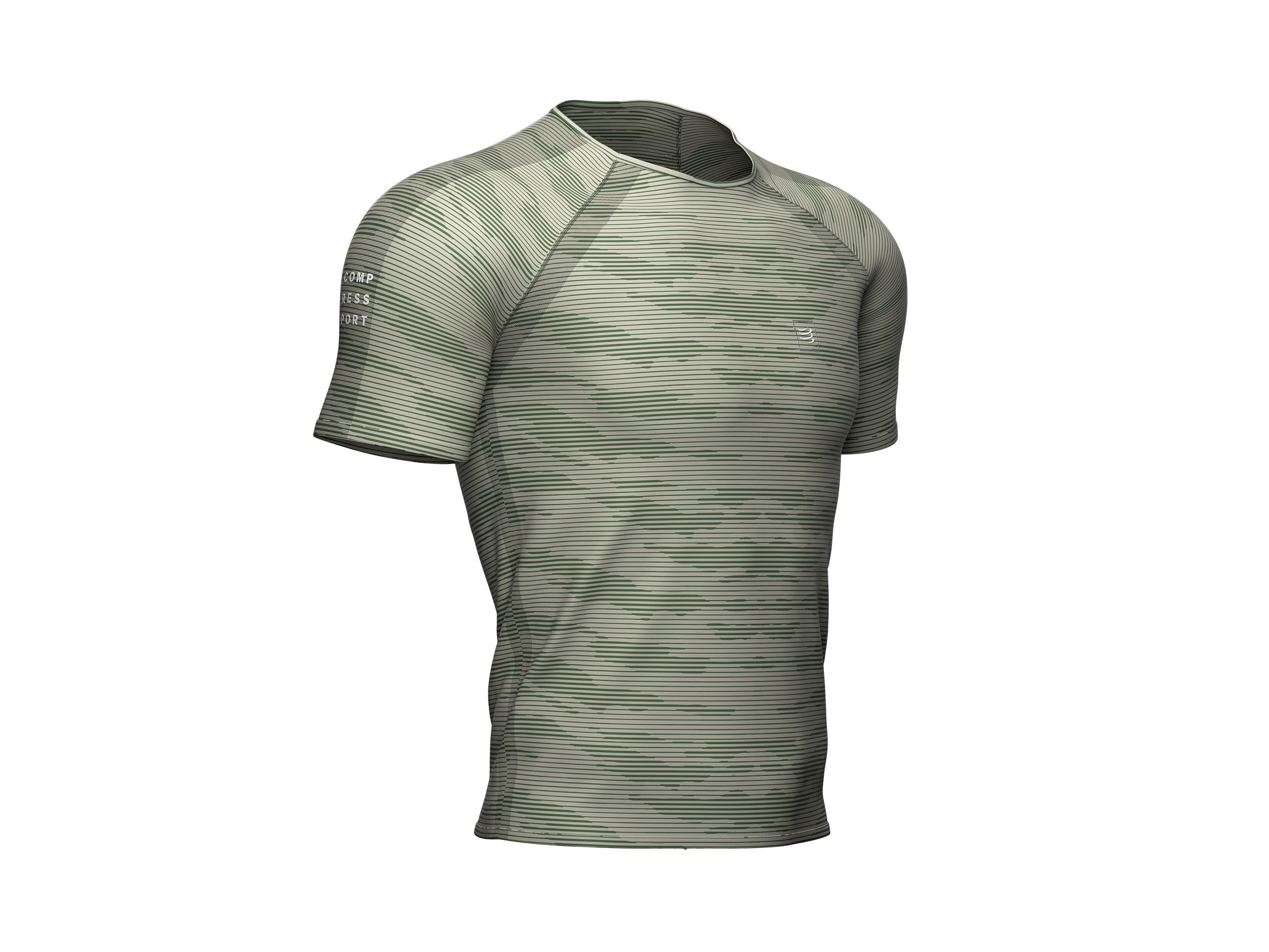 Training SS Tshirt Camo Stripe - Slate Green