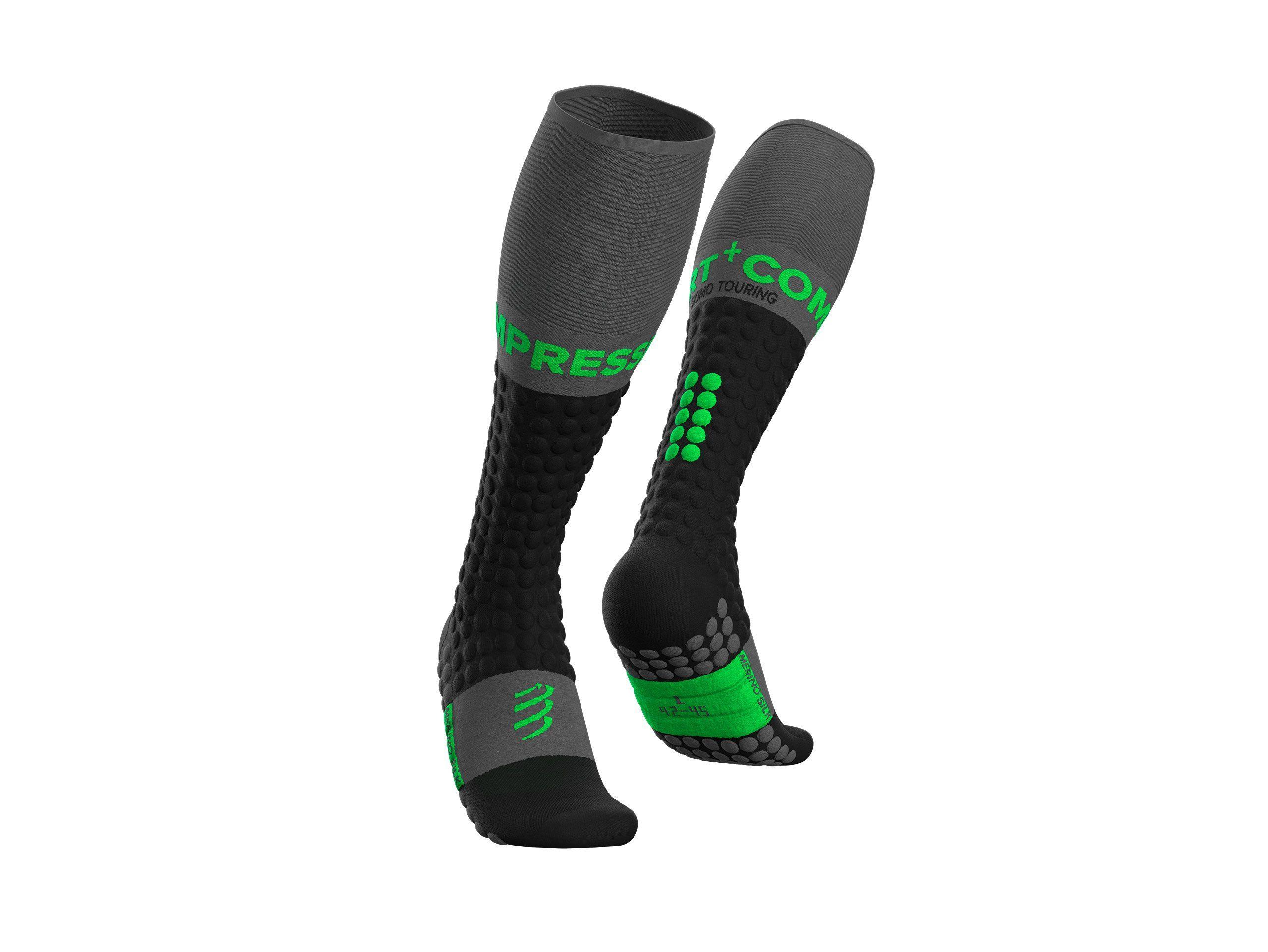 Ski Touring Full Socks - Black Green
