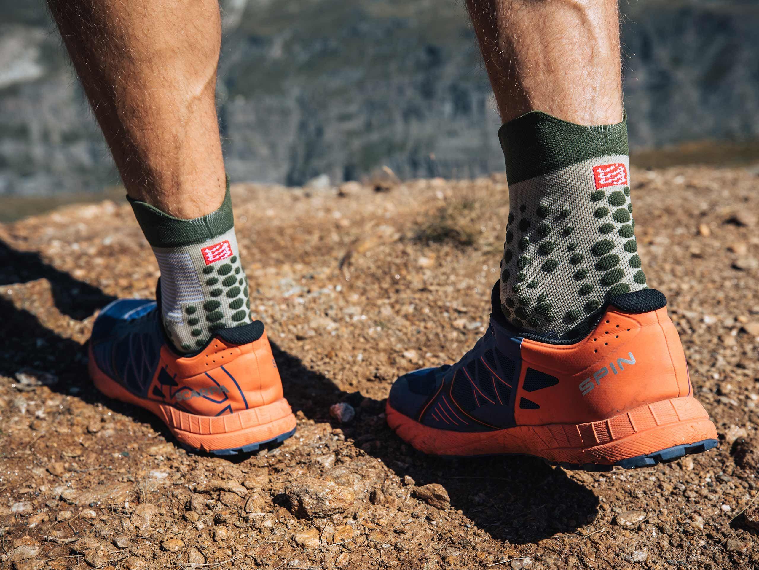 Pro racing socks v3.0 trail vert de gris