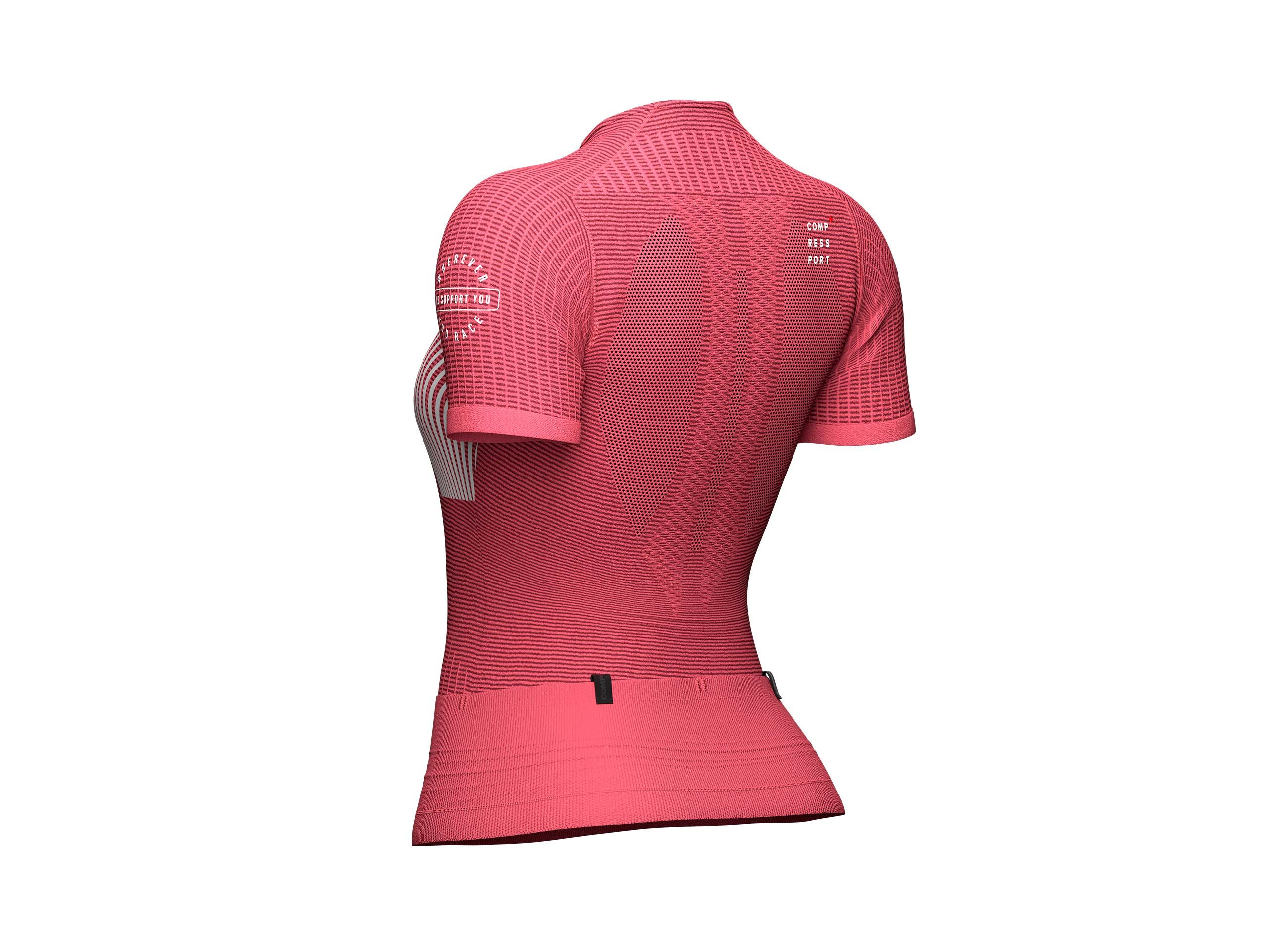 Trail Postural SS Top W GARNET ROSE