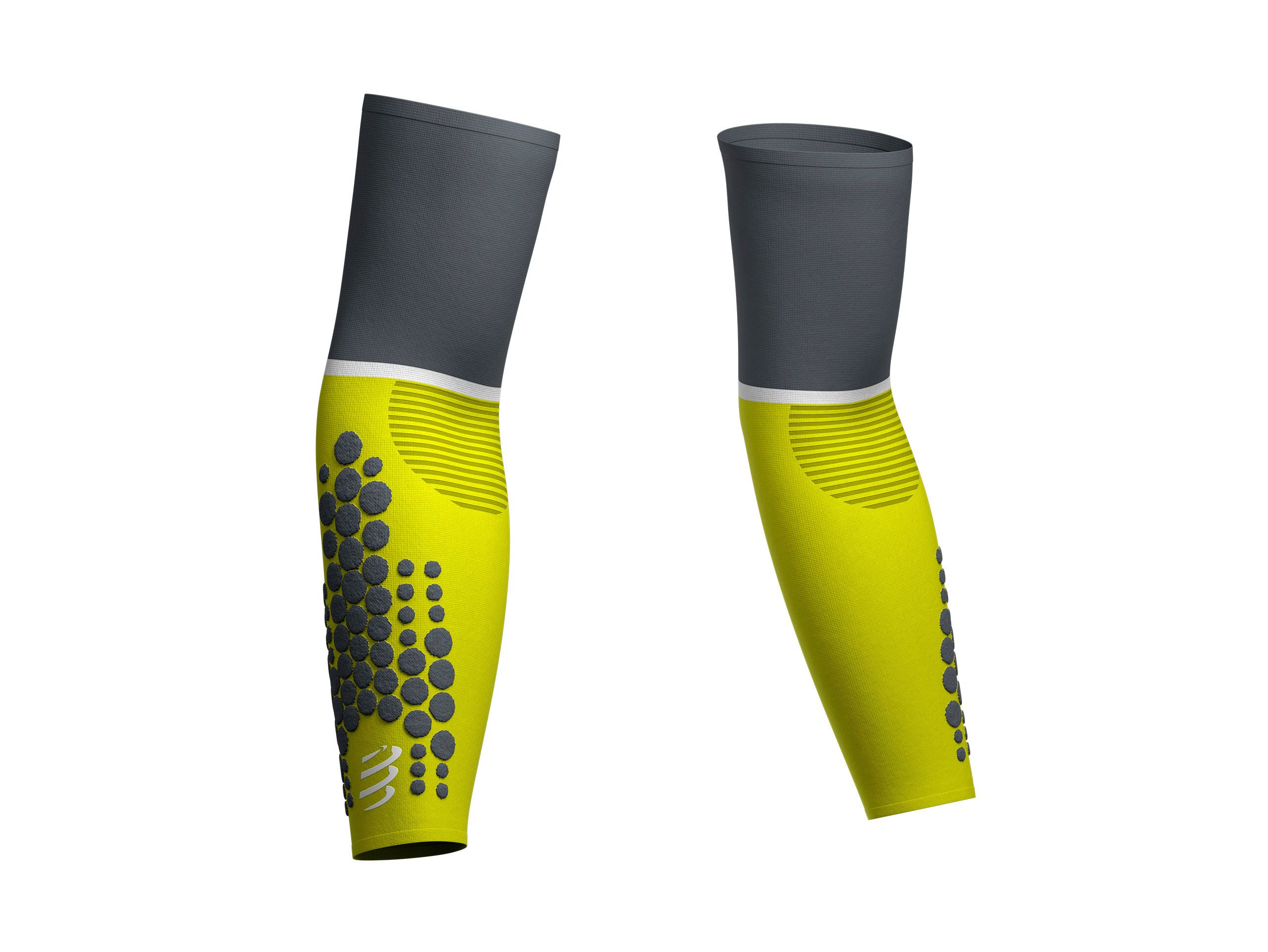 ArmForce Arm Sleeves Lime Grey