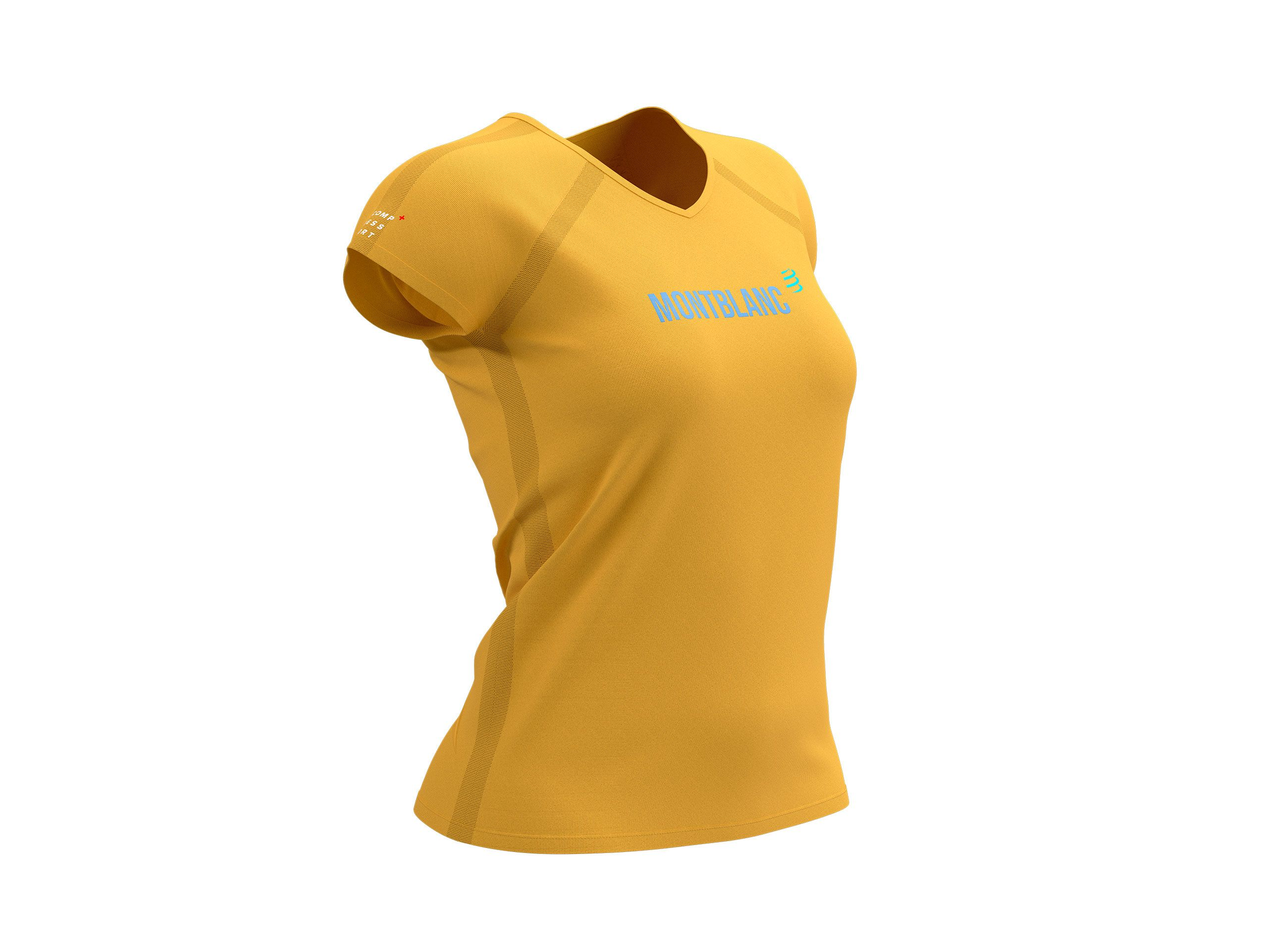 Training Tshirt SS W - Mont Blanc 2021 OCHRE