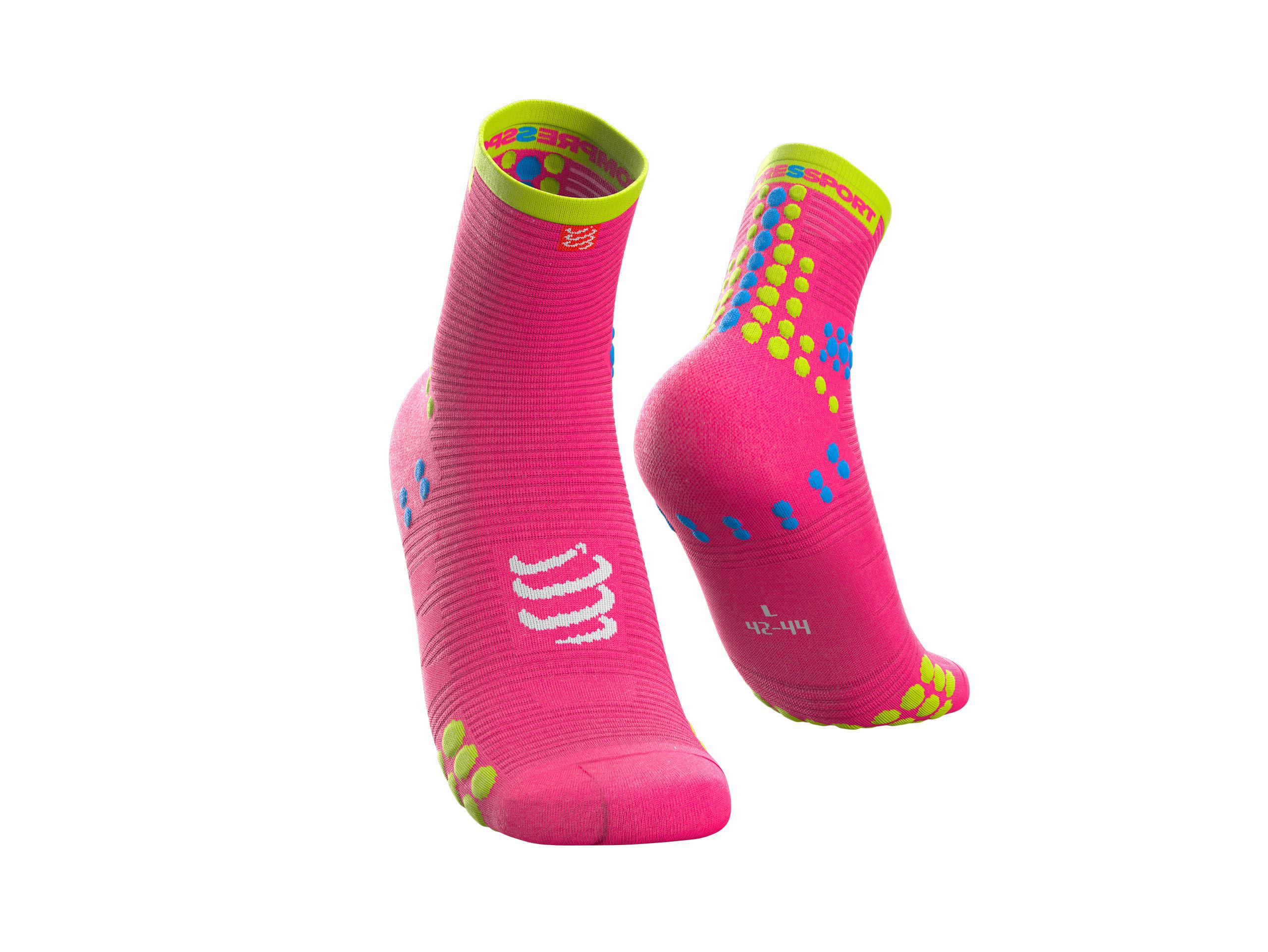 Calzini da gara professionali v3.0 Run High rosa fluo