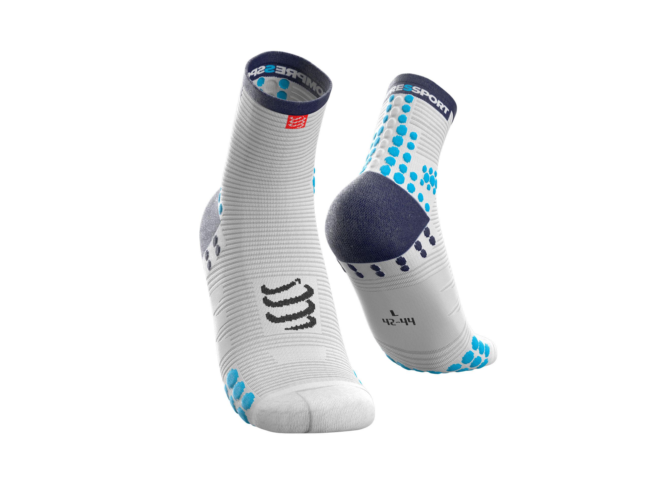 Calzini da gara professionali v3.0 Run High bianchi/blu