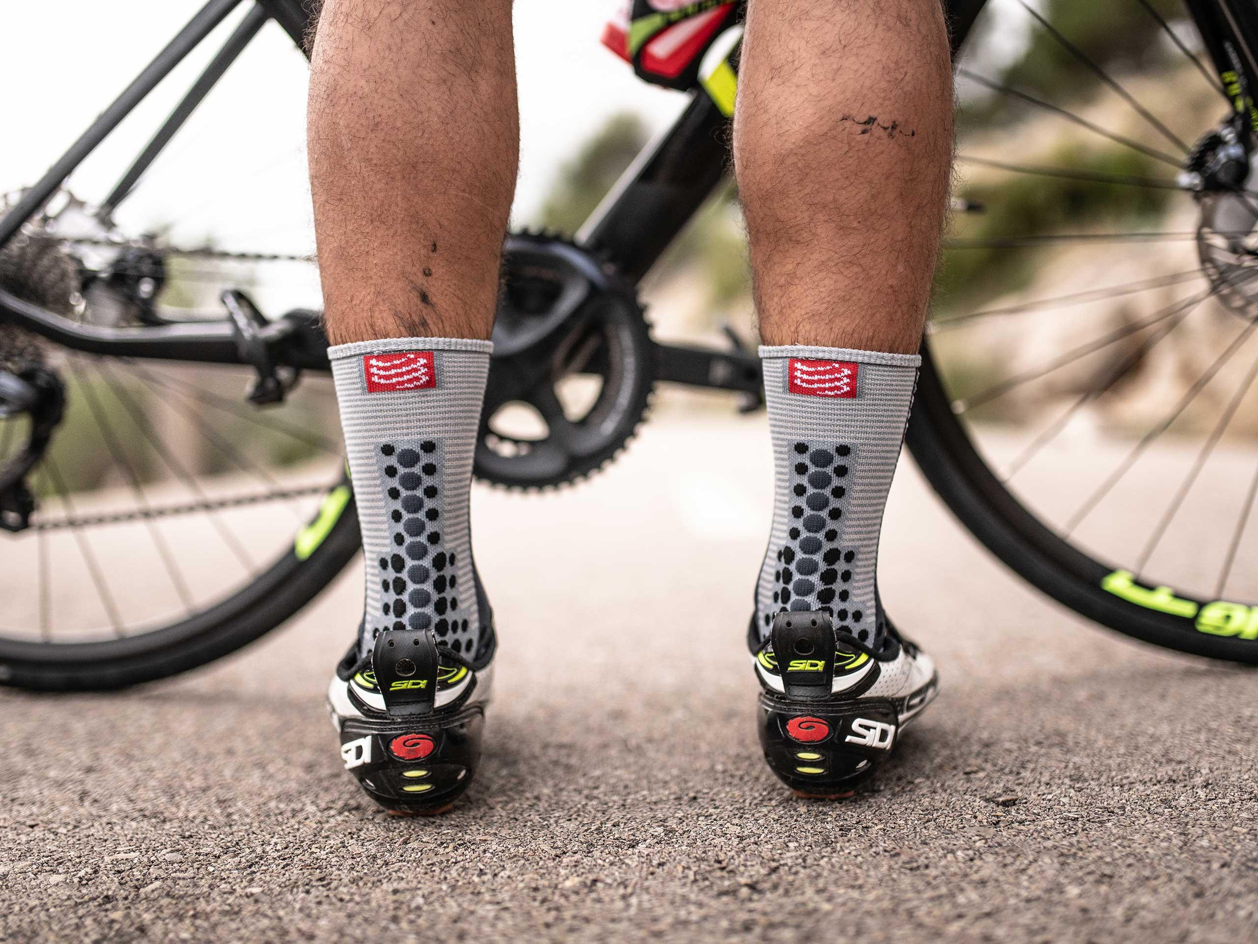 Calze da gara professionali v3.0 Bike grigio melange