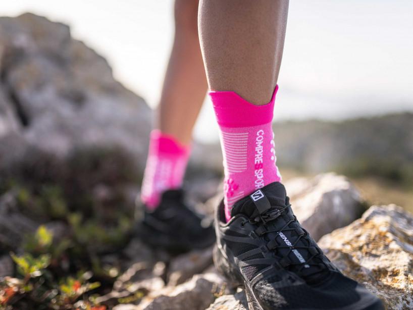 Calzini professionali da gara v3.0 Trail rosa melange