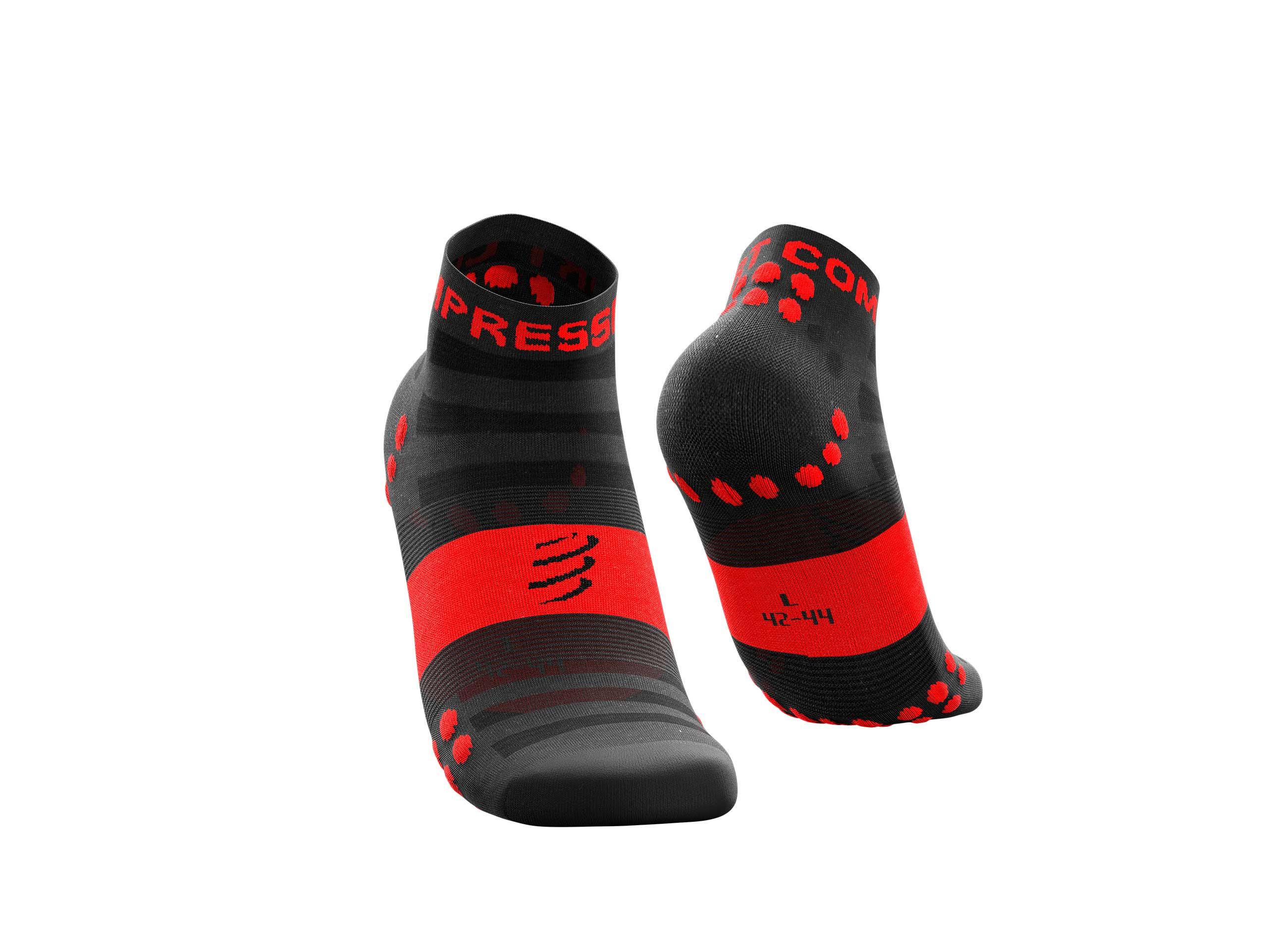 Calzini da gara professionali v3.0 Ultralight Run Low neri/rossi