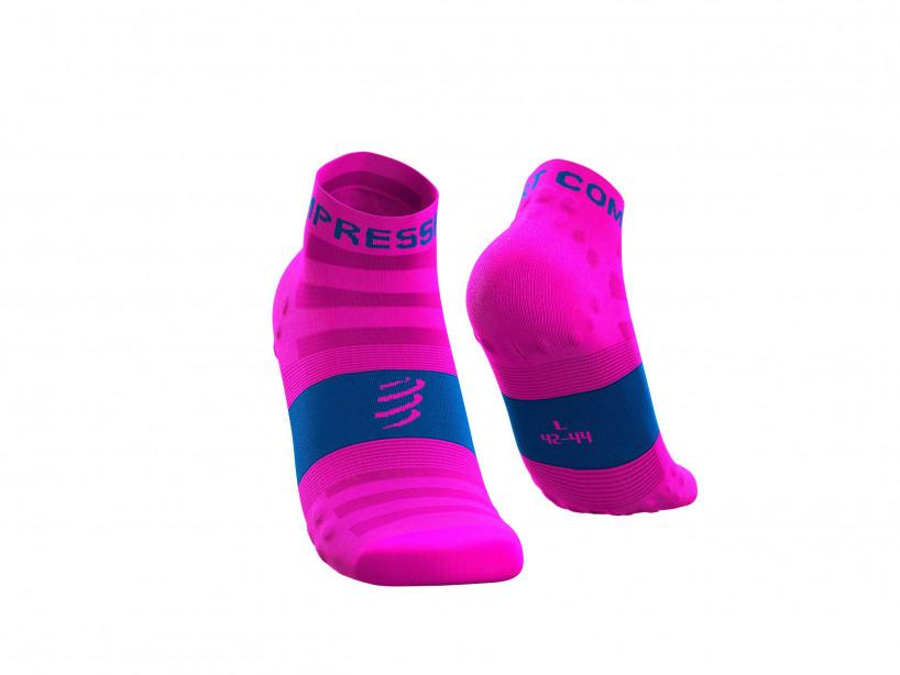 Calzini da gara professionali v3.0 Ultralight Run Low rosa fluo