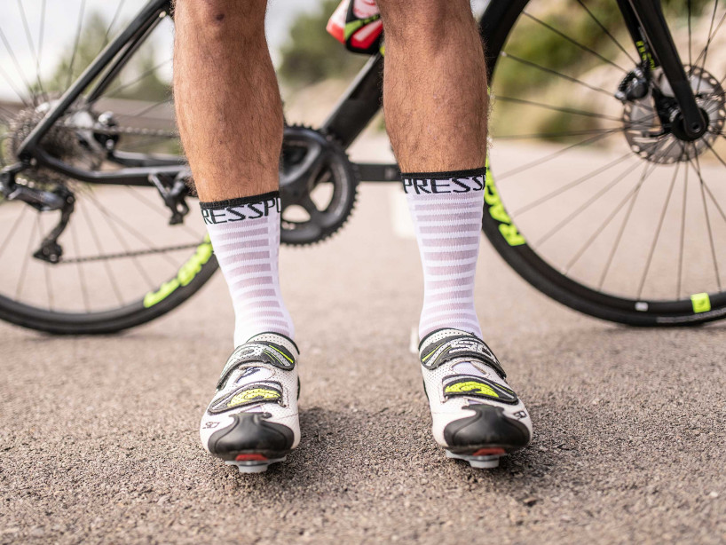 Calzine da gara professionali v3.0 Ultralight Bike bianche