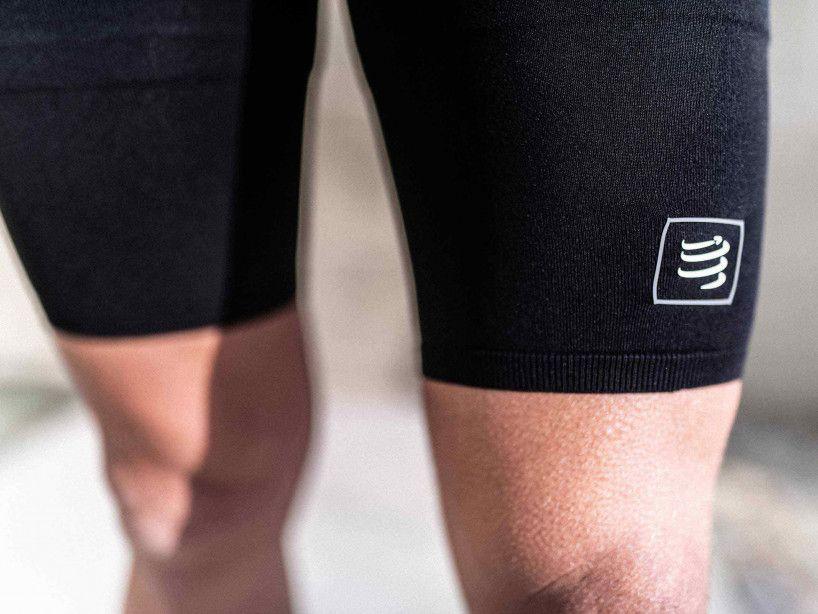 Short di compressione da corsa neri
