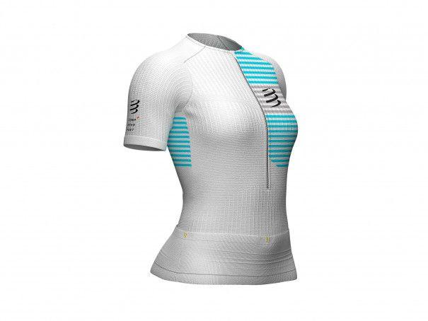 Top posturale W SS da triathlon bianco