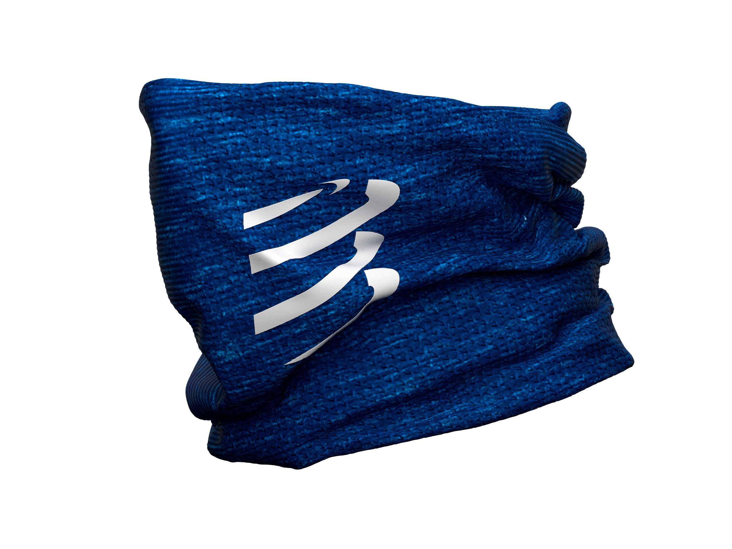 Girocollo termico ultra-leggero 3D blu melange