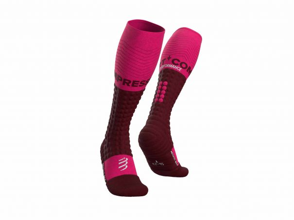 Alpine Ski Merino Full Socks CHERRY