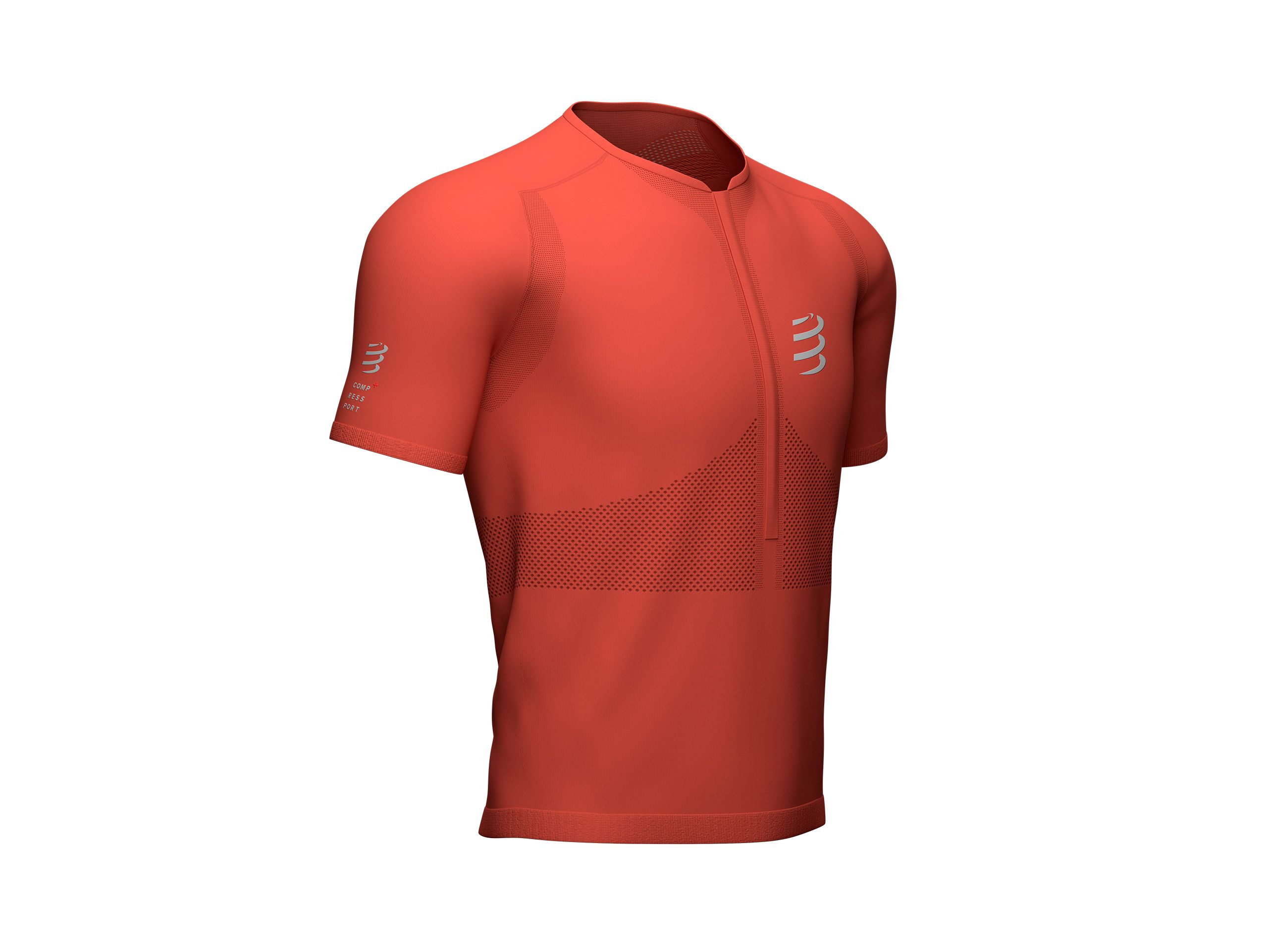 Trail Half-Zip Fitted SS Top RED CLAY