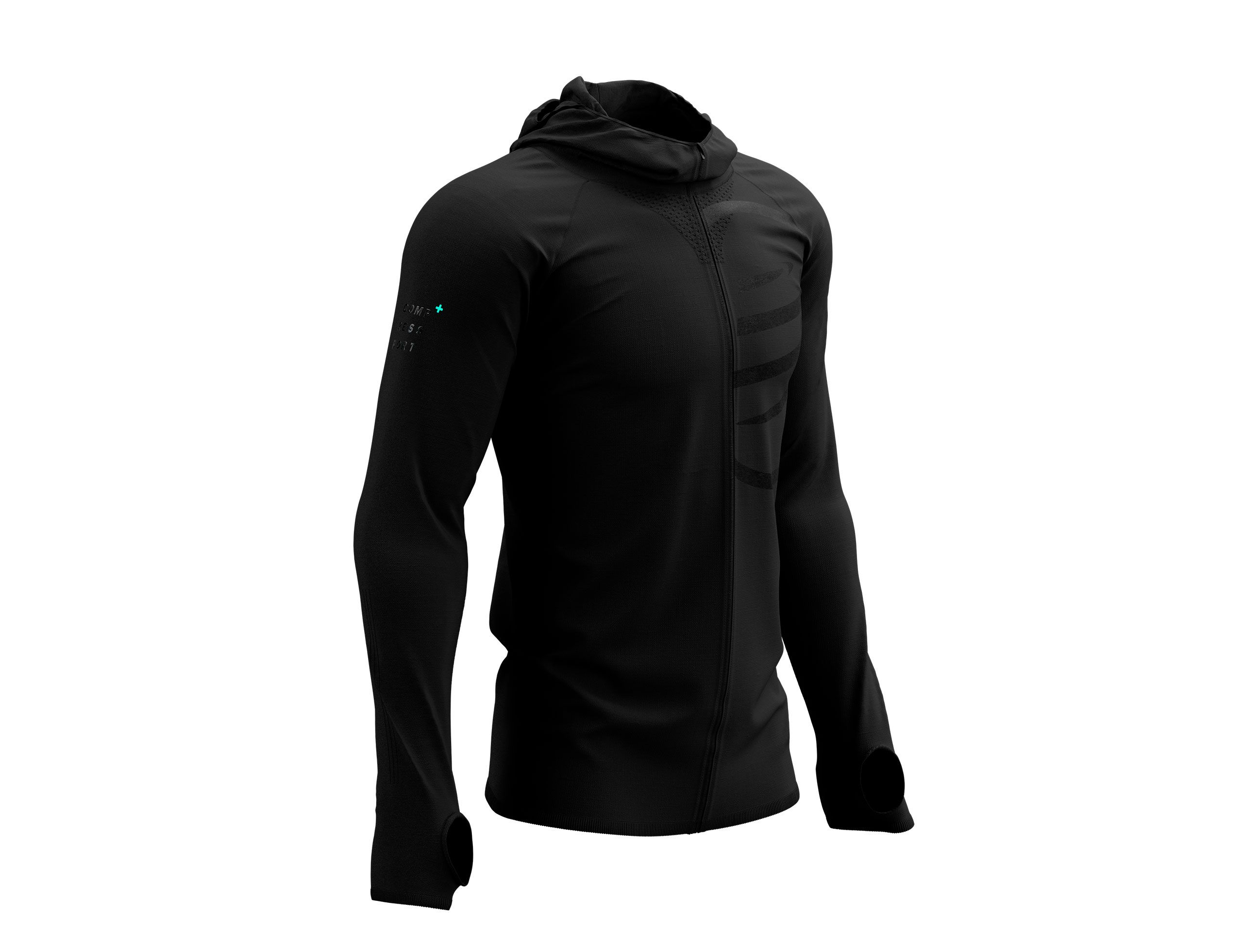 3D Thermo Seamless Hoodie Zip - Black Edition 2021 BLACK