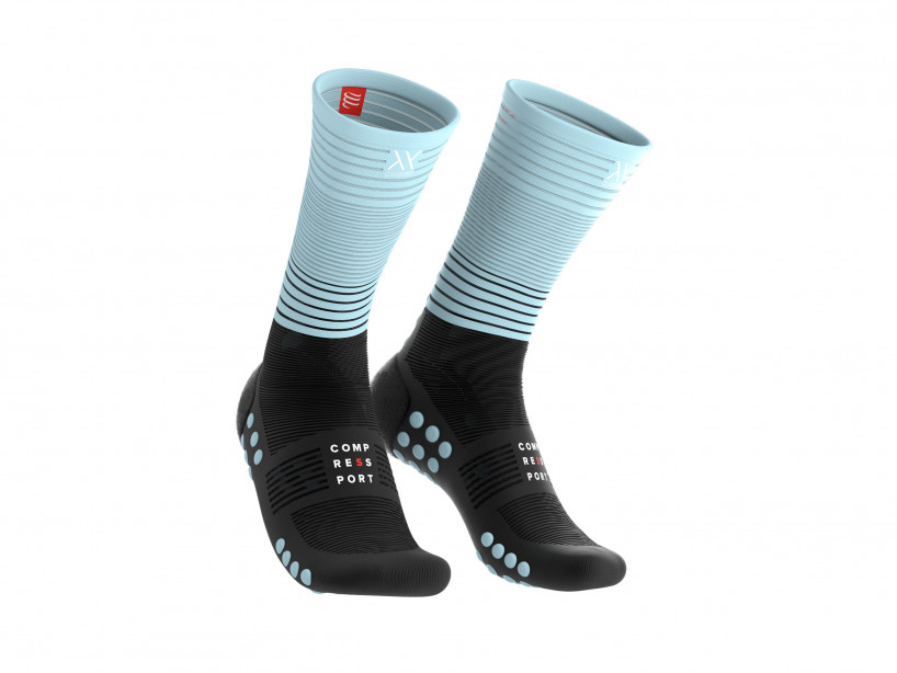Mid compression socks black/ice blue