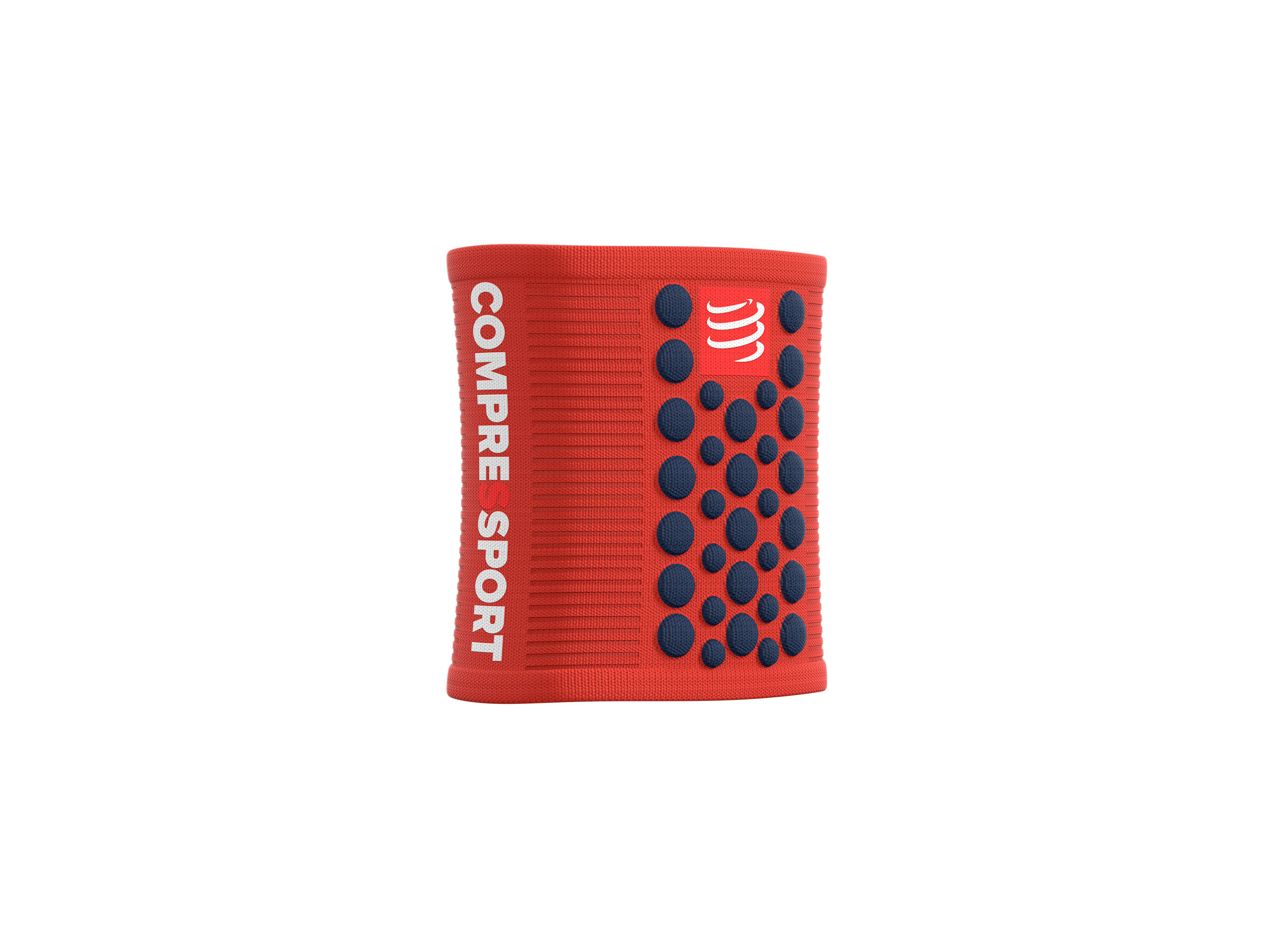 Sweatbands 3D.Dots grenadine/blue