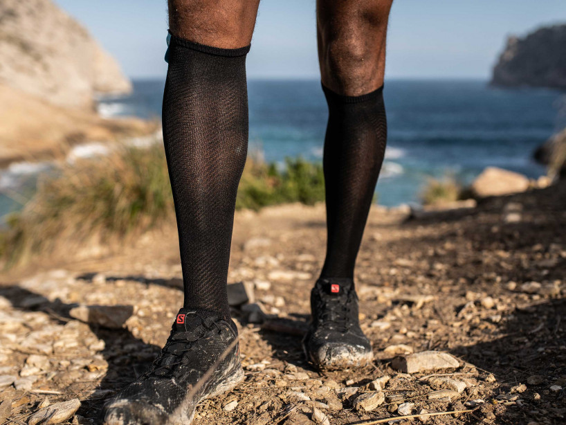 Full Socks Race Oxygen black
