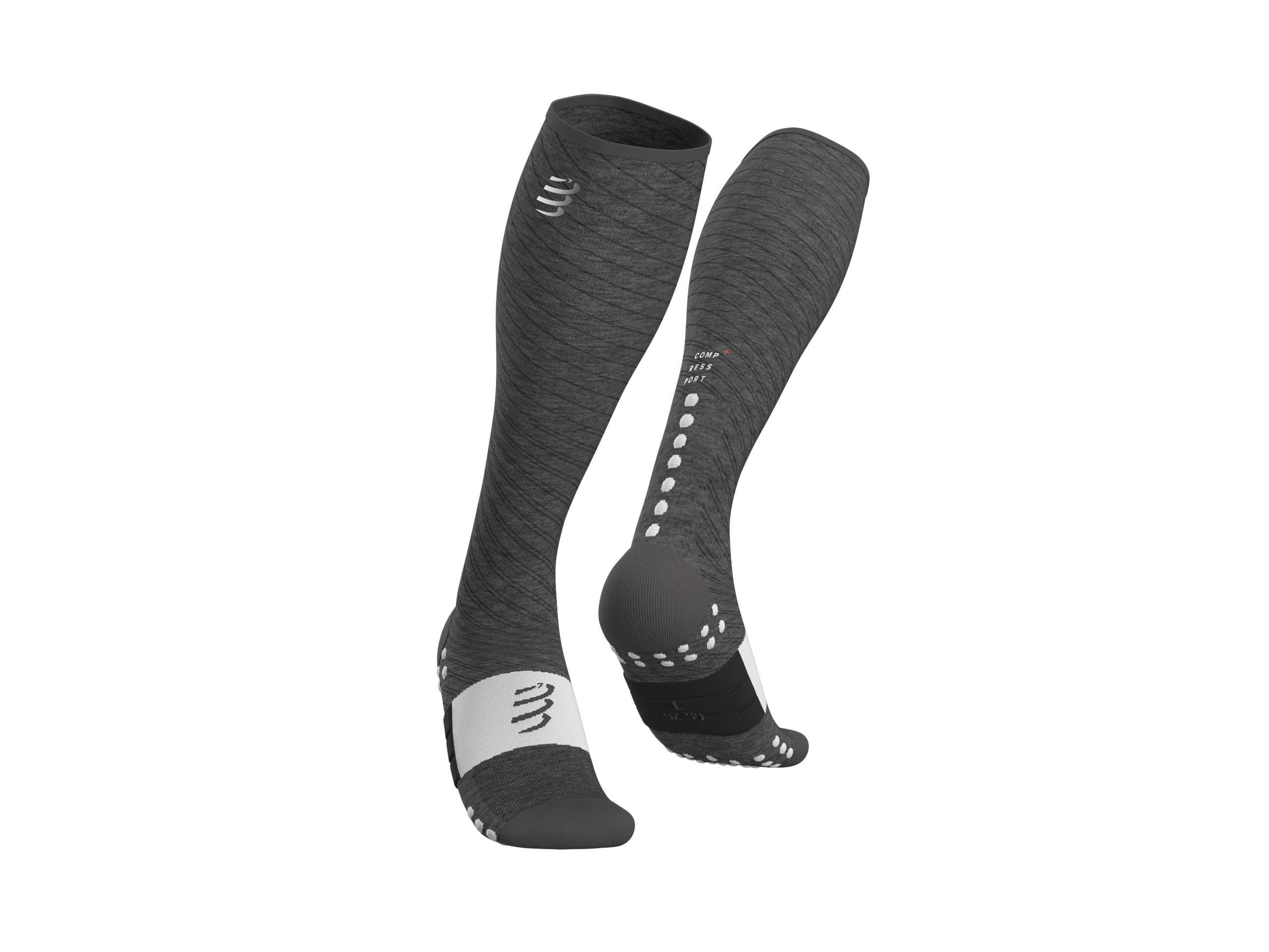 Black Compressport Full Socks Race /& Recovery
