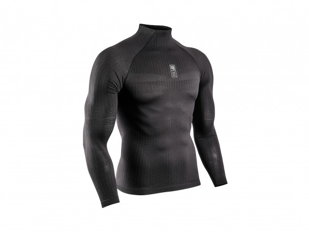 3D thermo 110g LS Tshirt black