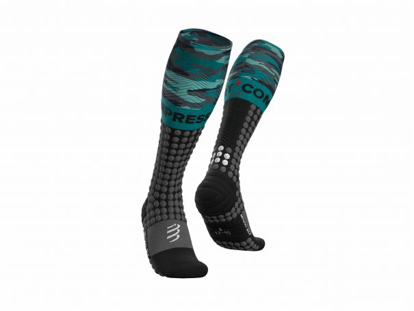Alpine Ski Racing Full Socks BLACK/CAMO
