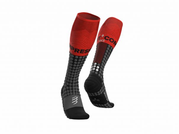 Alpine Ski Racing Full Socks BLACK/RED