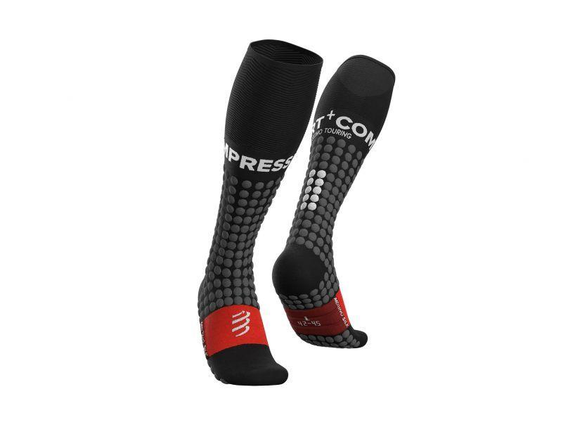 Ski Touring Full Socks - Black Grey