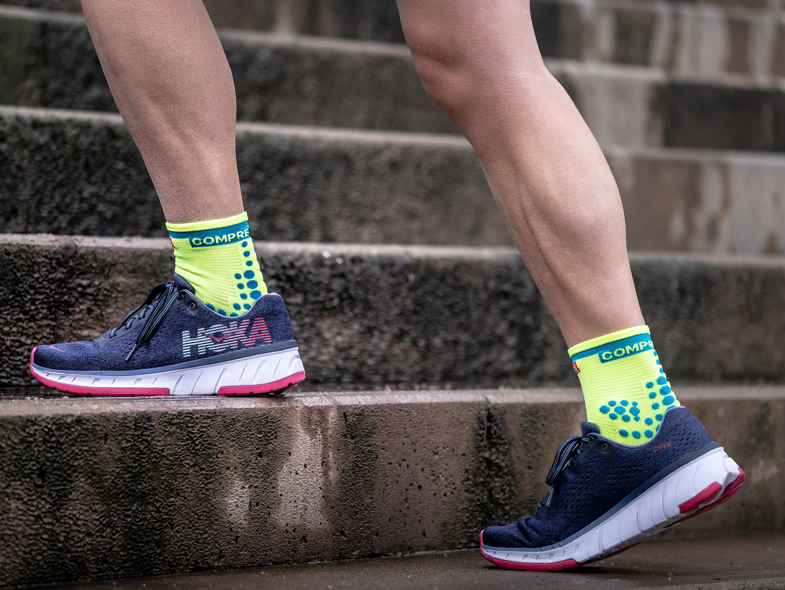 Calcetines deportivos pro v3.0 Run High Amarillos