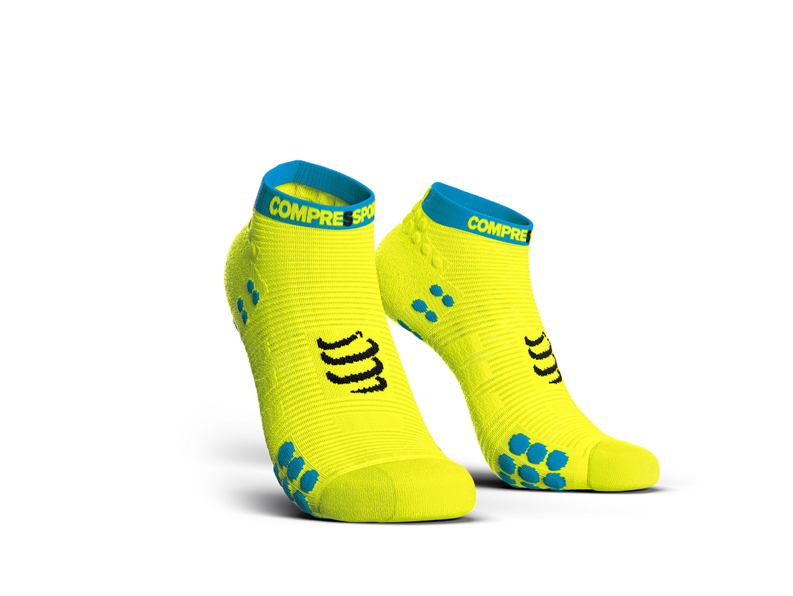 Calcetines deportivos pro v3.0 Run Low amarillo flúor