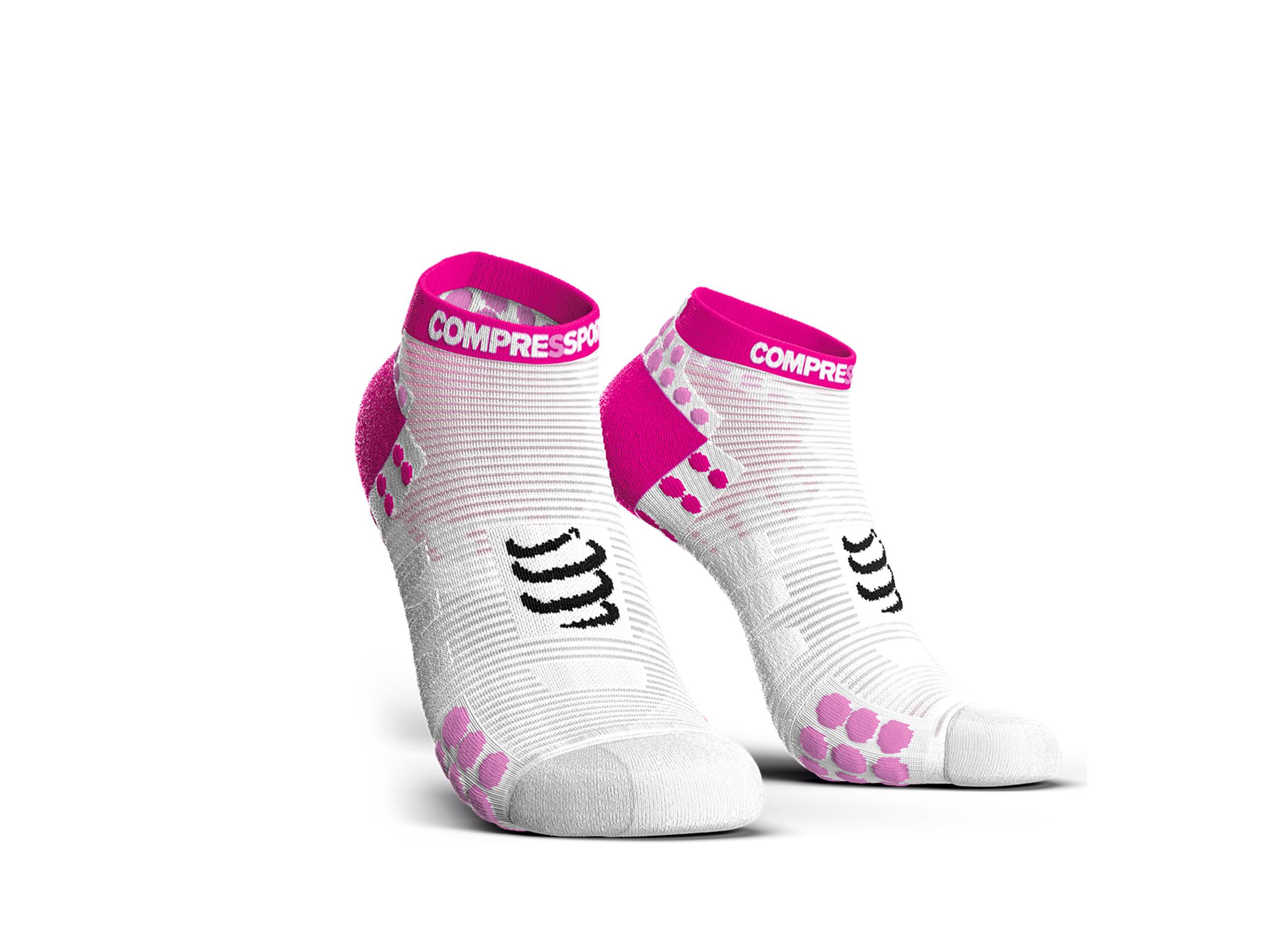 Calzini da gara professionali v3.0 Run Low bianchi/rosa