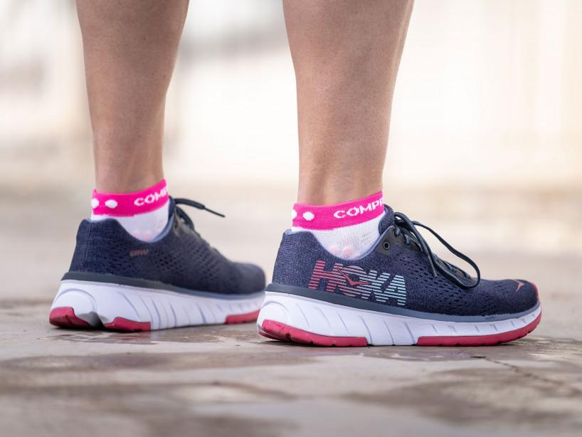 Pro racing socks v3.0 Run low white/pink