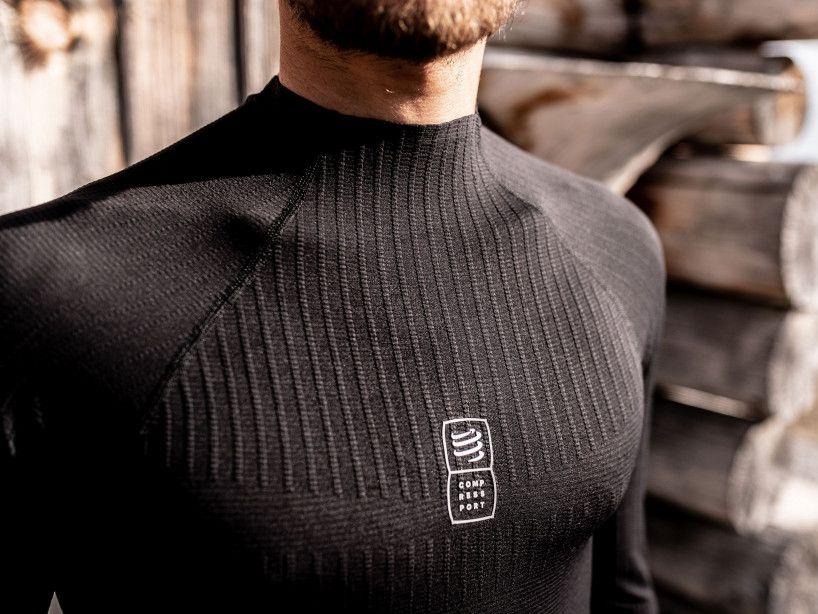 3D thermo 110g LS Tshirt black
