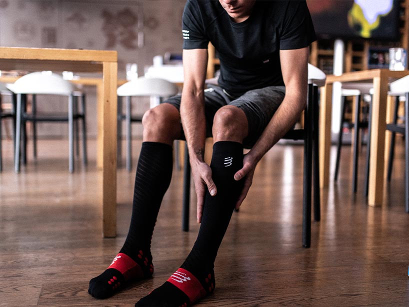 Calcetines altos Ultra Recovery negros
