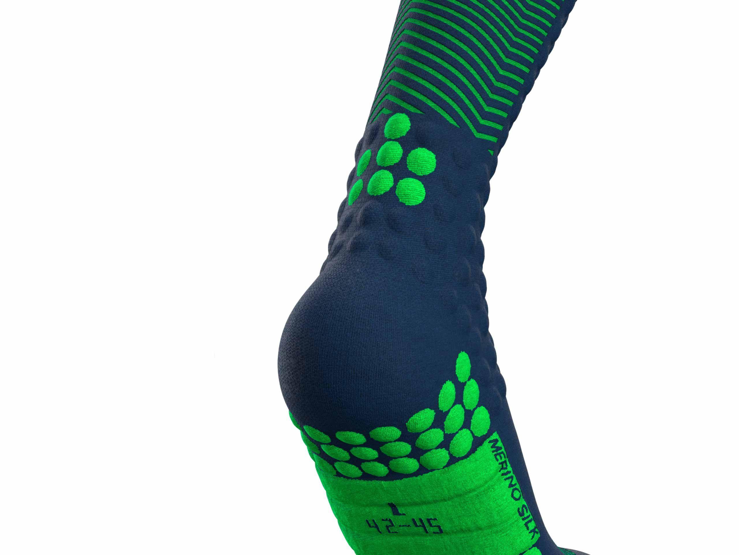 Skimo Full Socks BLUE/LIME