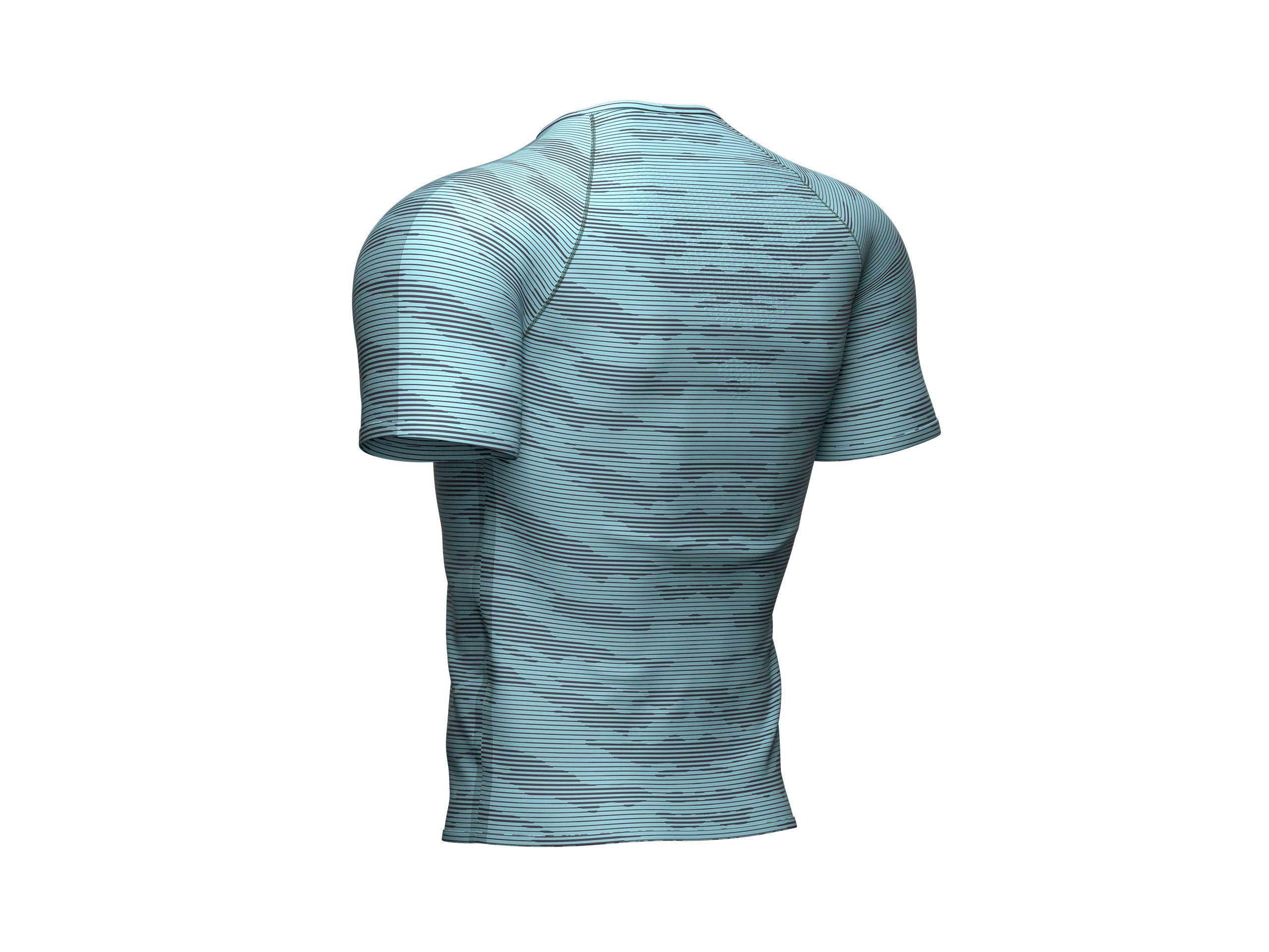 Camiseta Camo Training Ss - Nile Blue