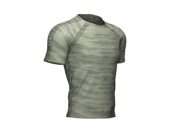 Training ss tshirt camo stripe vert ardoise
