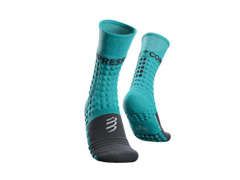 Pro racing socks winter run bleu du nil
