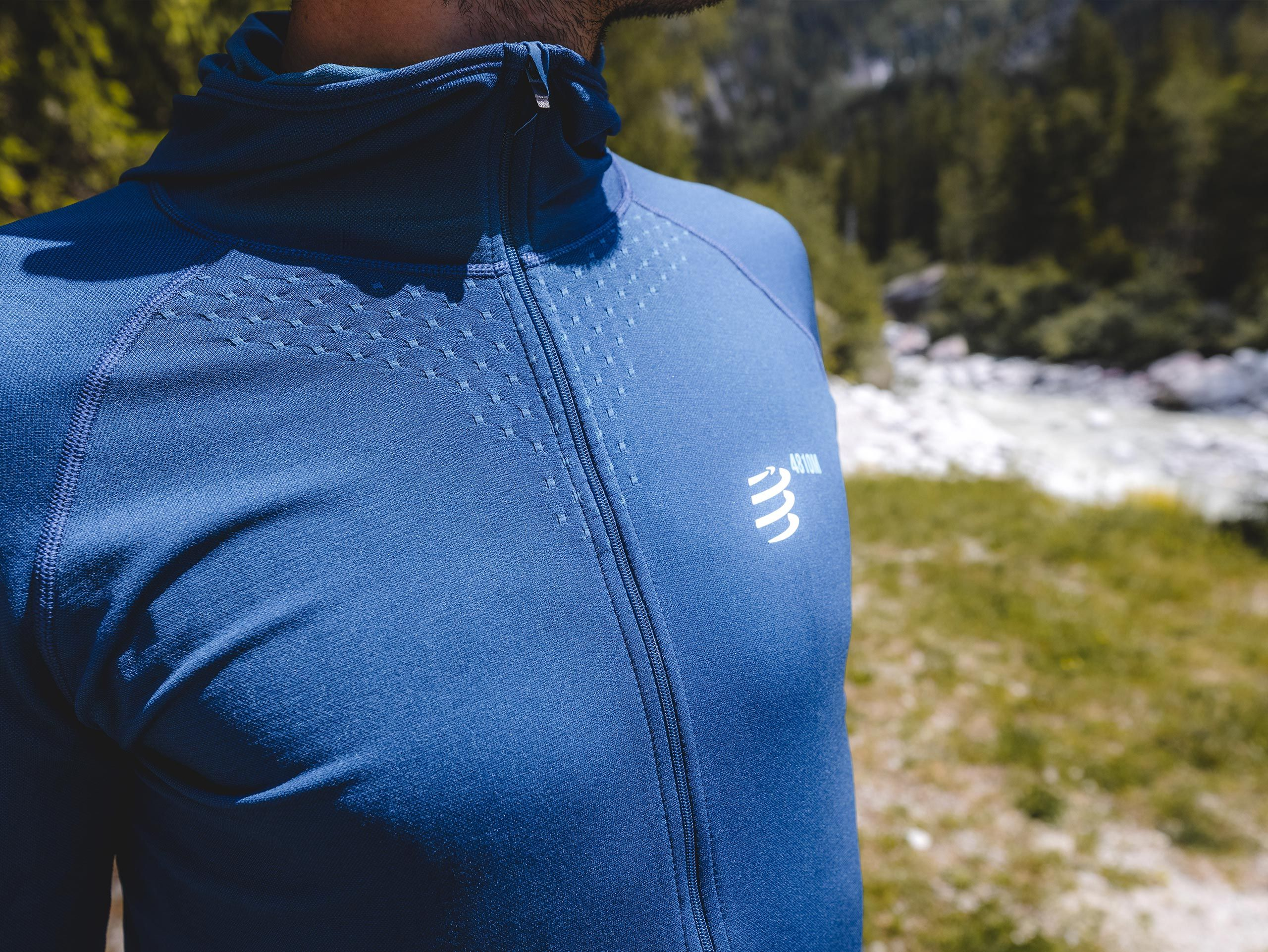 3D Thermo Seamless Hoodie Zip - Mont Blanc 2021