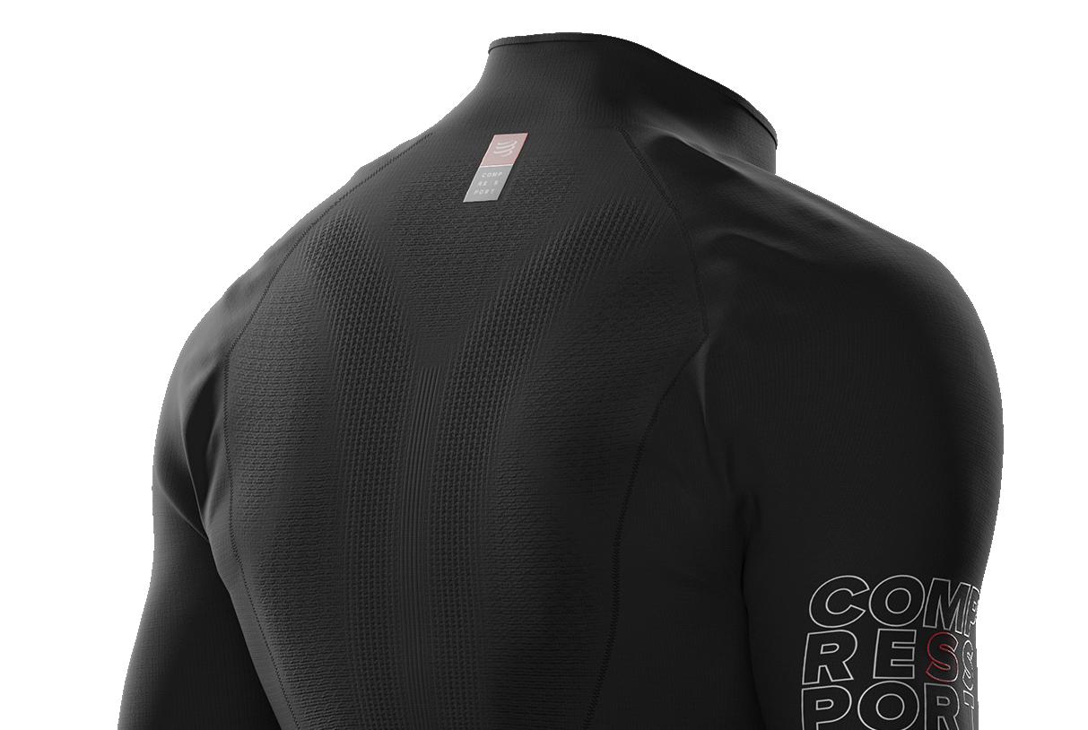 Compressport Homme 3D thermo 50 g LS T Shirt Tee Top-Noir Sport Running